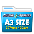 02. A3 Posters 297 x 420mm