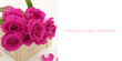 2x1m Outdoor Valentine Pink Roses