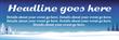 PVC Banner - 6ft x 2ft - Snow Scene