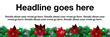 PVC Banner - 6ft x 2ft - Christmas - 5