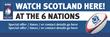 PVC Banner - 6ft x 2ft - Sports - 6 Nations - Scotland