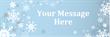 PVC Banner - 6ft x 2ft - Blue Snowflakes