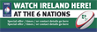 PVC Banner - 6ft x 2ft - Sports - 6 Nations - Ireland