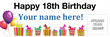 PVC Banner - 6ft x 2ft - Birthday - 2 - White