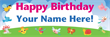 PVC Banner - 6ft x 2ft - Childrens Birthday - 1