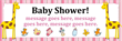 PVC Banner - 6ft x 2ft - Baby Shower - 2 - Pink