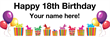 PVC Banner - 6ft x 2ft - Birthday - 1 - White
