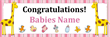 PVC Banner - 6ft x 2ft - Baby - 1 - Pink