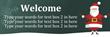 PVC Banner - 6ft x 2ft - Christmas - 1 - Green