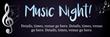 PVC Banner - 6ft x 2ft - Music Night - 1