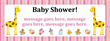 PVC Banner - 8ft x 3ft - Baby Shower - 2 - Pink