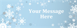 PVC Banner - 8ft x 3ft - Snowflakes