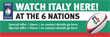 PVC Banner - 6ft x 2ft - Sports - 6 Nations - Italy