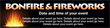 PVC Banner - 12ft x 3ft - Bonfire and Fireworks - 1