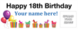 PVC Banner - 8ft x 3ft - Birthday 2 - White