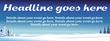 PVC Banner - 8ft x 3ft - Snow Scene