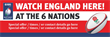 PVC Banner - 6ft x 2ft - Sports - 6 Nations - England