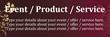 PVC Banner - 6ft x 2ft - Modern Floral - 1 - Brown