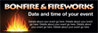 PVC Banner - 6ft x 2ft - Bonfire and Fireworks - 1