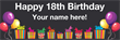 PVC Banner - 6ft x 2ft - Birthday - 1 - Black