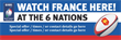 PVC Banner - 6ft x 2ft - Sports - 6 Nations - France