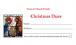 Christmas Dues Envelope 006