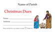 Christmas Dues Envelope 008