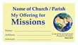 Missions Offering Envelope