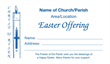 Easter Dues Envelope 012