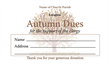 Autumn Dues Envelope