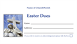 Easter Dues Envelope 005