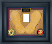 MCRD SAN DIEGO YELLOW FOOTPRINT CUSTOM PRINT SHADOW BOX FRAME